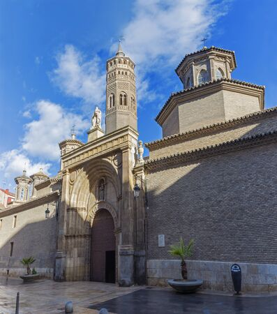 ZARAGOZA, SPAIN - MARCH 3, 2018: The church Iglesia de San Pablo.