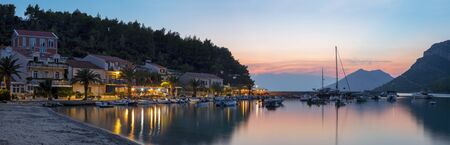 Croatia - The evening atmosphere in little harbor of Zuliana village - Peljesac peninsula.