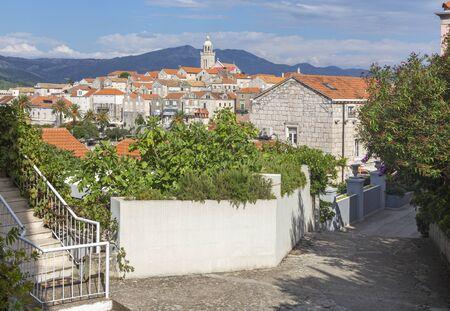 Croatia - The old town of Korcula. Standard-Bild