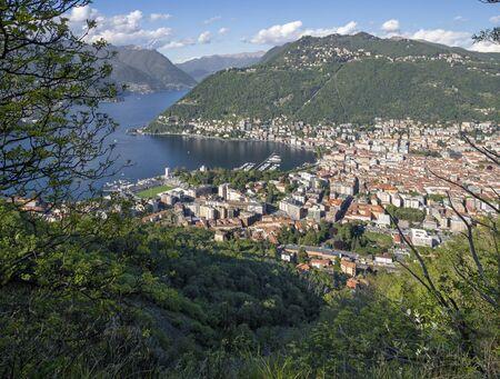 Como - The city among the mountains and lake Como.