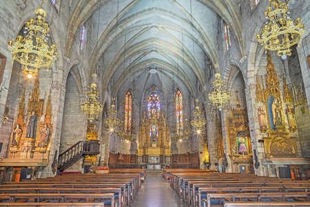 BARCELONA, SPAIN - MARCH 5, 2020: The noe-gothic church Església de la Concepció.