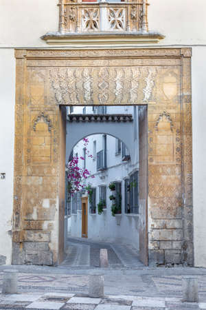 CORDOBA, SPAIN - MAY 27, 2015: The portal of Casa del Indiano from 15. cent. Editoriali