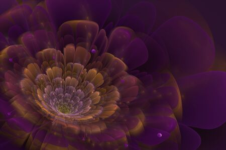 interesting: This is 3D flower fractal, that look very interesting on black background.