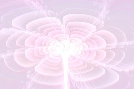 fractal pink:  fractal flower in pink shades. Stock Photo