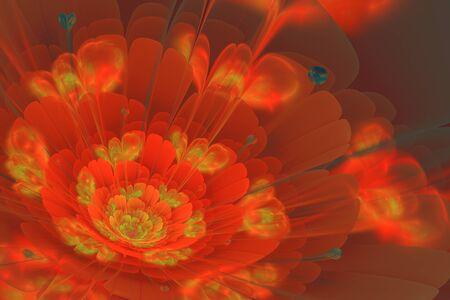 3d flower: 3D flower fractal background Stock Photo