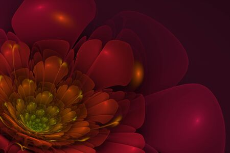 3d: 3D flower fractal  background.