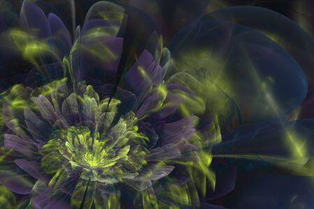 3d flower: 3D flower fractal with broken bloom.