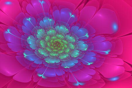 3d flower: 3D flower fractal  background.