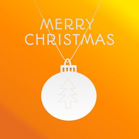 On this illustration is orange christmas background. Stock Photo