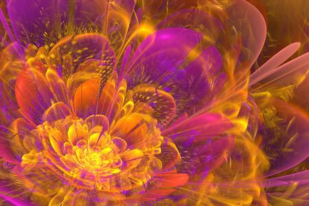 On this picture is abstract fractal flower design background. Фото со стока