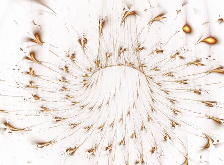 marvelous: This is flower fractal background in shades of gold color.