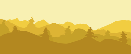 hillside: On this illustration is landscape in time of sunrise.