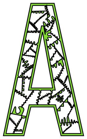 for children: This is an antistress illustration for children in shape of letter.