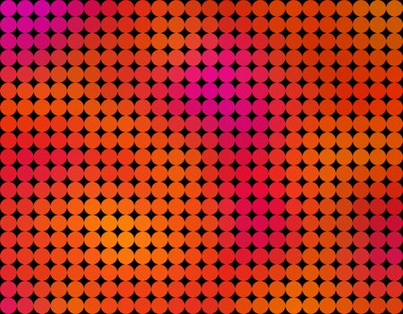 On this illustration is abstract Low poly background, that is made by circles in a lot of colors, for example as yellow, red, pink, orange, etc.