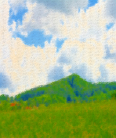 hillock: On this illustration is landscape, that was made by triangles.