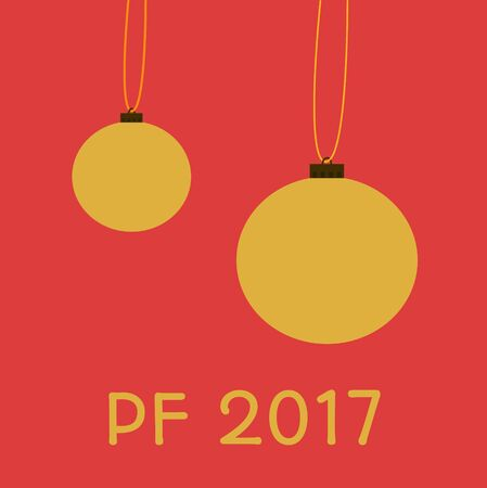 pour feliciter: This is greeting card for happy new year with inscription pf 2017 - pour feliciter, which means congratulations. Illustration