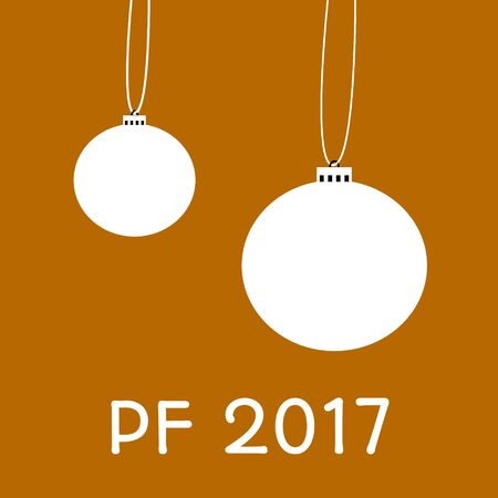 This is greeting card for happy new year with inscription pf 2017 - pour feliciter, which means congratulations. Illustration
