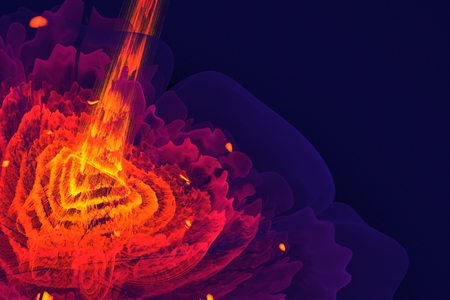 saturation: On this picture is Multicolored fractal flower with triangle in the middle.