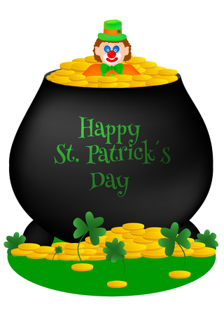 Vector greeting card in theme for St. Patricks day