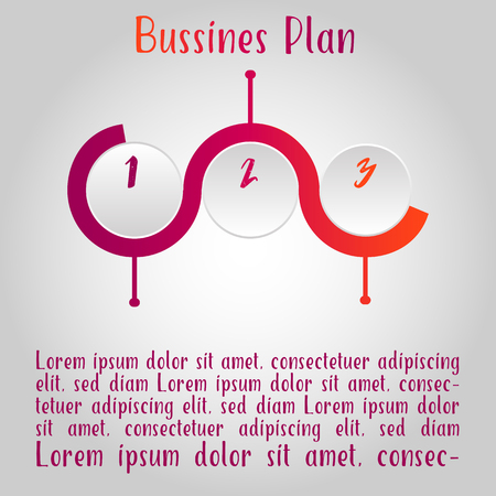 This illustration is viewing a business plan.