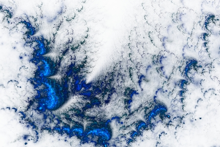 You can see blue Fractal floral background with a lot of curls and edges.