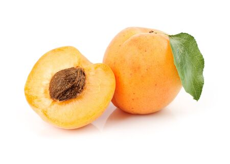 Apricots. Isolated over white background Stock Photo
