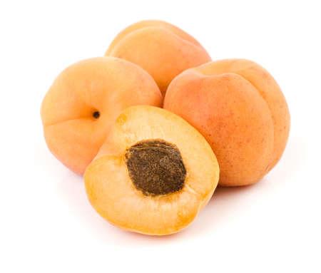 fresh apricot fruits isolated on white background  photo