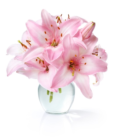flower vase: Bouquet of lilies Stock Photo