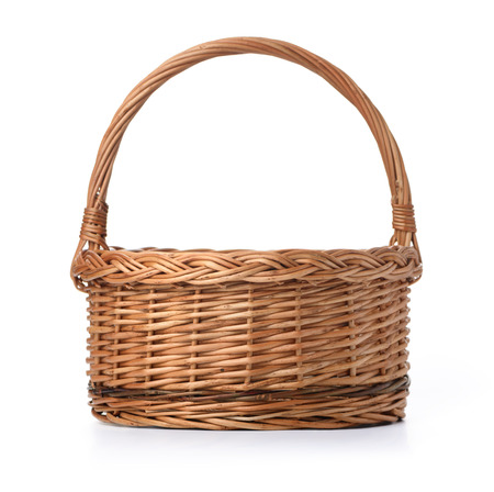 Empty Basket isolated over white