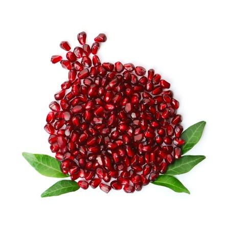 전체 과일 모양의 석류 씨앗