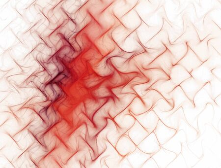 undulated: Abstract image of red texture , metal mesh , waves on white background