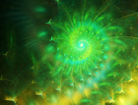 twisted: background with abstract spiral , twisted green and yellow