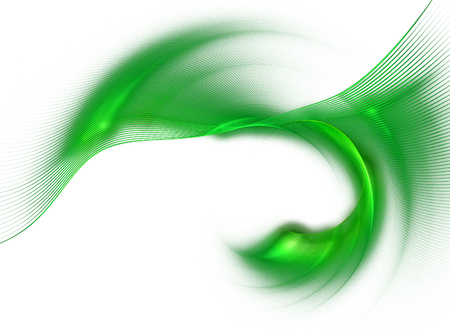 modulations: Abstract fractal image background with green curved lines , wave rotation. Graphic element for design Stock Photo