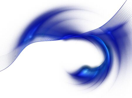undulated: Abstract fractal image background with blue curved lines , wave rotation. Graphic element for design
