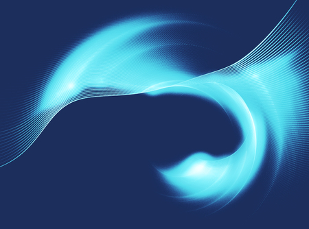modulations: Abstract fractal image background with blue curved lines , wave rotation. Graphic element for design