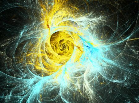 metaphorical: Space series . Composition fractal vortex with a metaphorical connection with the universe , space, astronomy, science. Stock Photo