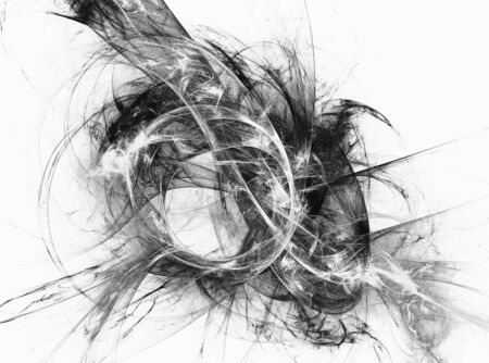 Abstract fractal black and white image . Fractal background .