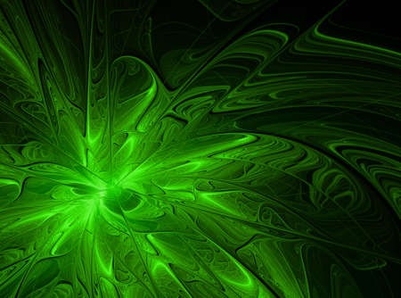 awakening: Abstract fractal background with ornaments and a splash of paint .