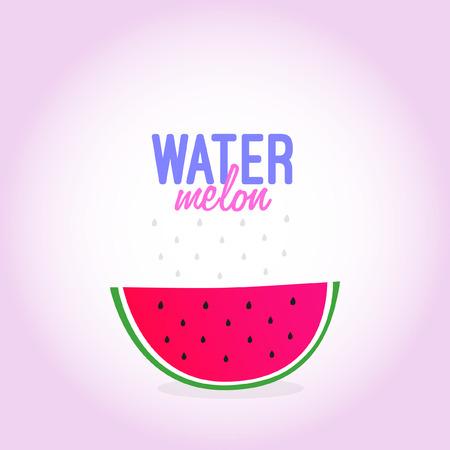 healty: watermelon Illustration