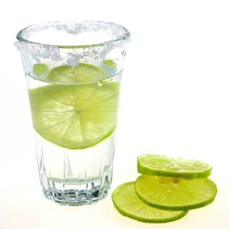 lemon juice: vodka glass , lemon and salt for drink