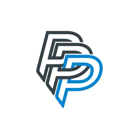 Letter P or PPP design template. Type Character Symbol.