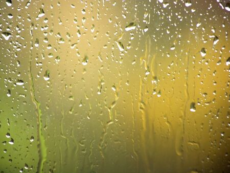 Rain on a window pane photo
