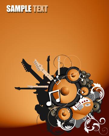 circundante: musical vector illustration