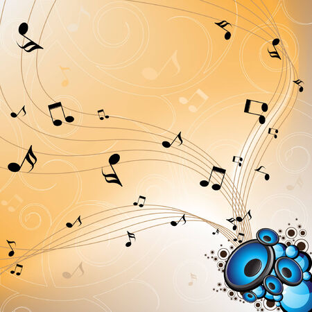 abstract musical vector illustration Vector
