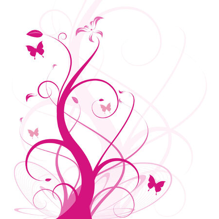 floral vector design for backgrounds, easy to edit Stock Vector - 4989225