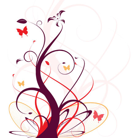 floral vector design for backgrounds, easy to edit Stock Vector - 4989224