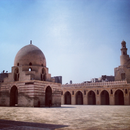ibn: Mosque of Ibn Tulun Stock Photo