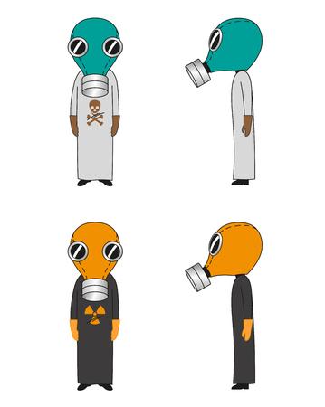 cute cartoon: Cartoon  Gas Mask Cute Illustration
