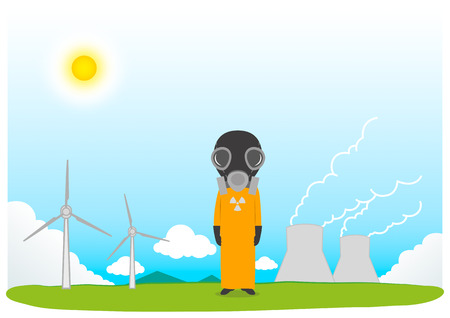 electricity generation: Cartoon  Electricity Generation and power