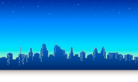graphic novel: Night City Sky Background